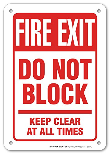 Block Clear Times Safety Sign