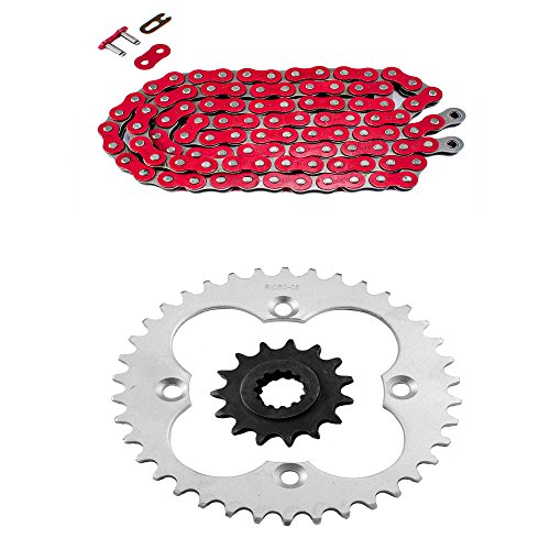 Red Standard Chain and Sprocket Kit for Honda TRX400 EX Sportrax 1999 2000 2001 2002 2003 2004