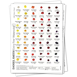 Daniel Smith 001900482 Watercolor 238 Dot Color Chart