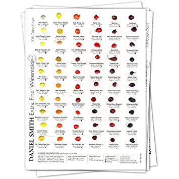 Amazon Daniel Smith 001900482 Watercolor 238 Dot Color Chart