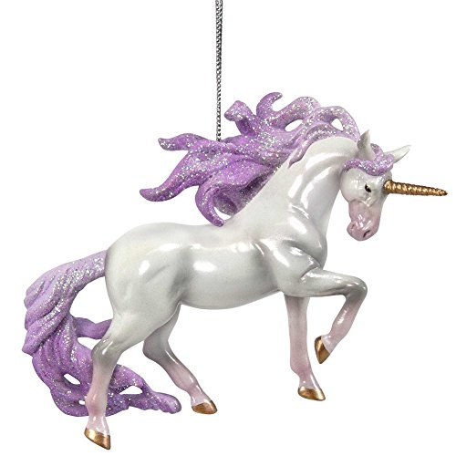 Enesco Trail of Painted Ponies Unicorn Magic Hanging Ornament, White (Horse Tree Ornaments)