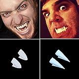 Adarl 4 PCS Dress Vampire Teeth Unisex Halloween Party Dentures Props Vampire Zombie Devil Fangs Teeth