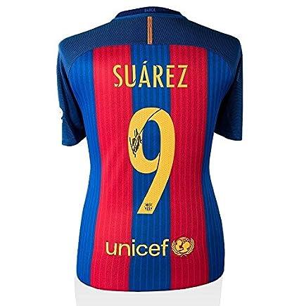 b13082e08a4f6 Signed Luis Suarez Jersey - Shirt 2016 2017 Number 9 - Autographed ...