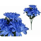 7-stem Chrysanthemum, Artificial Flower, Blue
