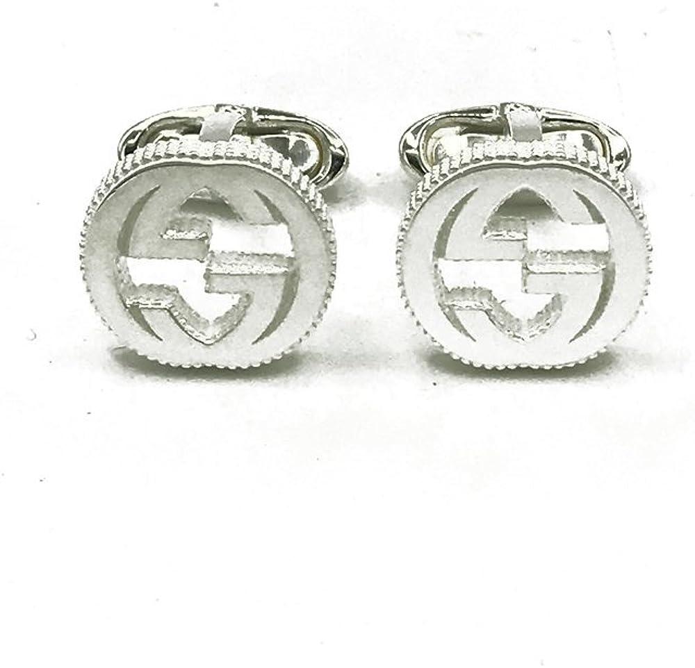 Gucci Interlocking Cufflinks Silver YBE499010001
