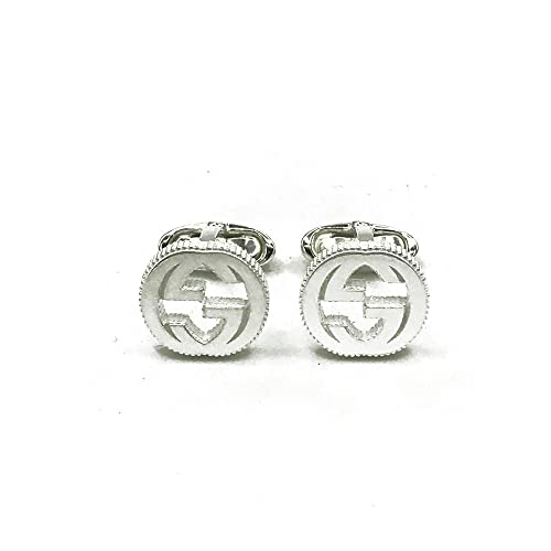 best website ea72f 69dd4 GUCCI gemelli INTERLOCKING argento YBE49901000100U: Amazon ...