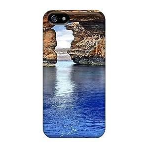 USMONON Phone cases Ellent Iphone Iphone 5 5s Case Tpu Cover Back Skin Protector Rocks Ocean