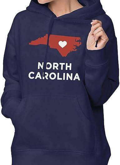 Sudadera con Capucha para Mujer de Carolina del Norte, Blusa ...
