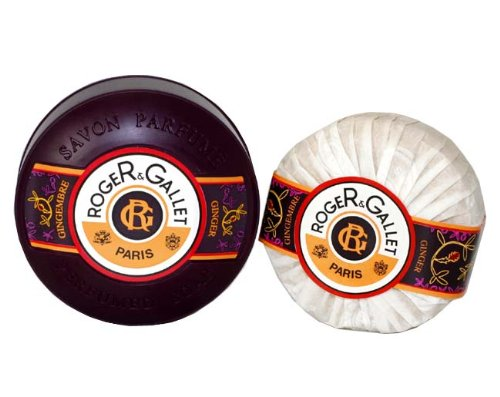 Gingembre ( Ginger ) By Roger & Gallet For Men & Women. Perfumed Soap With Dish 3.5 Oz