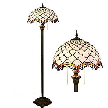 GJX De 16 Pulgadas - Lámpara de pie, Estilo de Tiffany ...