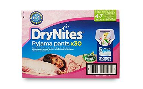 Huggies DryNites Culottes de nuit pour filles (4–7ans) 30culottes