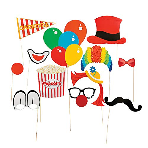 Fun Express Paper Carnival Photo Booth Stick Props]()