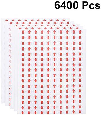 Nuobesty 6400pcs Red Arrow Dot Stickers Self Adhesive Peel