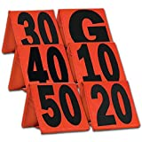 CHAMPRO Weighted Football Yard Markers (Orange) (A102WXL)