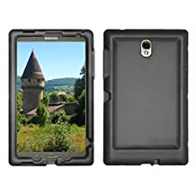 Bobj Rugged Case for Samsung Galaxy Tab S 8.4 Tablet Models SM-T700 (WiFi), SM-T705 (3G, 4G/LTE & WiFi) - BobjGear Protective Cover - (Bold Black)