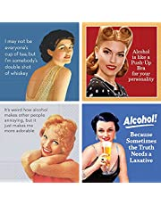 Funny Cocktail Napkins Box Set Retro Vintage Cocktail Napkin Funny Sayings Variety Pack 40 Total