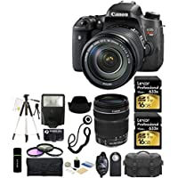 Canon EOS Rebel T6s 24.2MP CMOS Digital SLR Camera with EF-S 18-135mm IS STM Lens Kit + 2x Lexar 16GB Cards + Case + Flash + Tripod + Grip + Filter Kit and More - 32GB Accessories Bundle Key Pieces Review Image