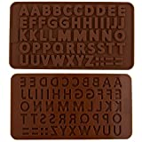 FOME Silicone Alphabet Letter Cake Topper Chocolate Fondant Cookies Ice Mould Mold + FOME Gift