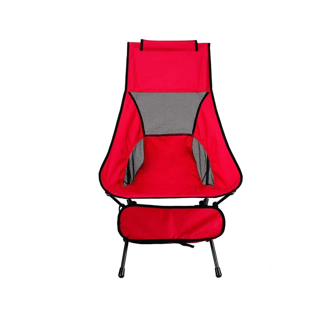 B  YYZDY12 Chaise de pêche Se Pliante Ultra légère de Loisirs de Tube en Aluminium de Tube extérieur de Plage en Aluminium de Chaise (Couleur   D)