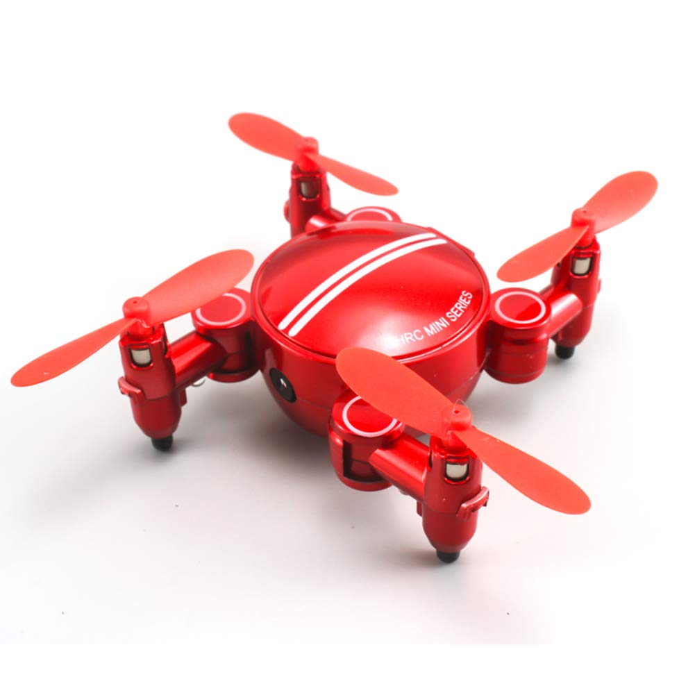 Red WQGNMJZ Drone, Remote Drone, Quadcopter, Aerial Photography Aircraft, SH1 Mini Folding Remote Control Aircraft HD Aerial Photography,Red