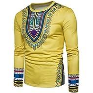 Boomboom Men Shirts, 2018 Fashion Casual Men African Printed O-Neck Long Sleeve T-Shirt Blouse