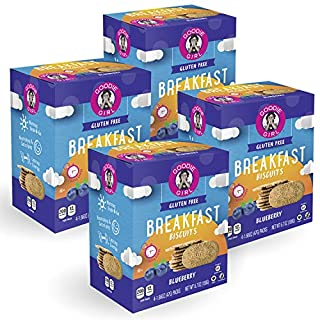 Goodie Girl Cookies Blueberry Breakfast Biscuits, Gluten Free, Peanut Free, Vegan, Kosher - (16 Biscuits/Box, Includes 4 Boxes)