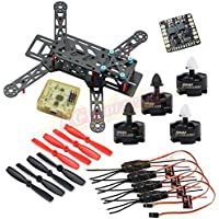 Hobbypower Carbon 280mm Quadcopter Frame With MT2204 2300KV Motor + Simonk 12A ESC + CC3D Flight Controller + 5045 Props for 280 Mini Drone