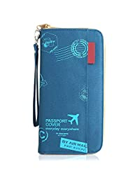 Travel Passport Wallet,Document Organizer Holder Cover Wallet Card Case for Men and Women