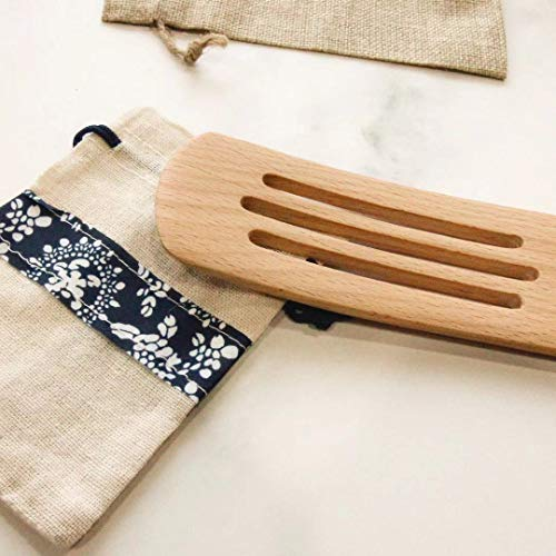 Wooden spurtles set 4pcs of Cooking Utensils,Natural beech Spatulas for cooking, wood spoon for cooking,Slotted Spurtles kitchen tools for Stirring, Mixing