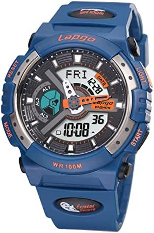 Boys fashion/Waterproof/Luminous/Outdoor sports/Multifunctional electronic watches-B