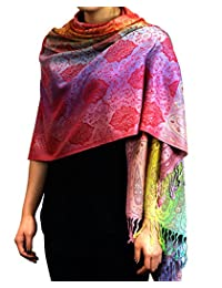 NYFASHION101 Elegant Colorful Paisley Soft Pashmina Scarf Shawl Wrap NBH1401Y - 09