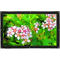 16:9 200 Portable Projector Screen,Rear Projection Screen with Hanging Holes for School and Outdoor Projecting