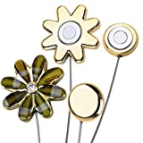 CM Cosmos 2 Pairs Magnetic Flower Curtain Clips