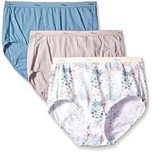 Hanes Women's 3 Pack Tagless No Ride up Cotton Briefs