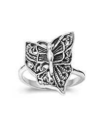 925 Sterling Silver Butterfly Ring