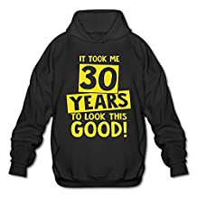 It Took 30 Years To Look This Good Men's Blank Hooded Sweatshirt Pullover Hoodie Long Sleeve