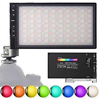 RGB Video Light Camera Light LED Photography Lights 360° Full Color 12 Common Light Effects Built-in 12W Rechargeable Battery, CRI≥97 2500-8500K LED Video Light with Aluminum Alloy Body(Upgrade)