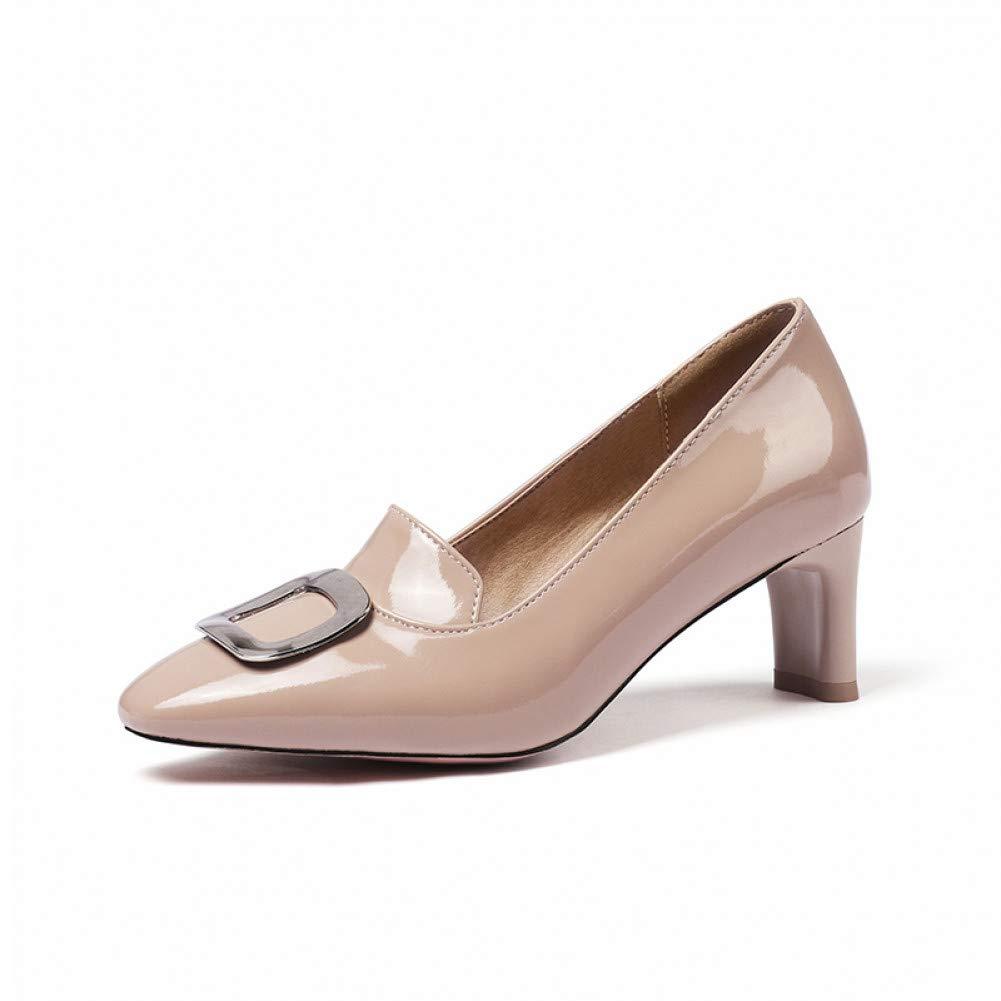 Ai Ya-liangxie Plus Zize 48 Chunky Heels Elegante Reife Frauen Pumpen Klassiker Damen Schuhe