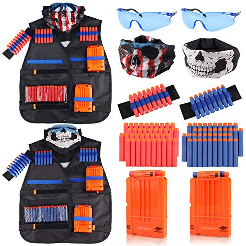 UWANTME Tactical Vest Kit 2 Pack for Nerf Guns N-Strike Elite Series