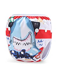 Storeofbaby Baby Swimming Diapers with Adjustable Snap for Girls and Boys 0-3 Years