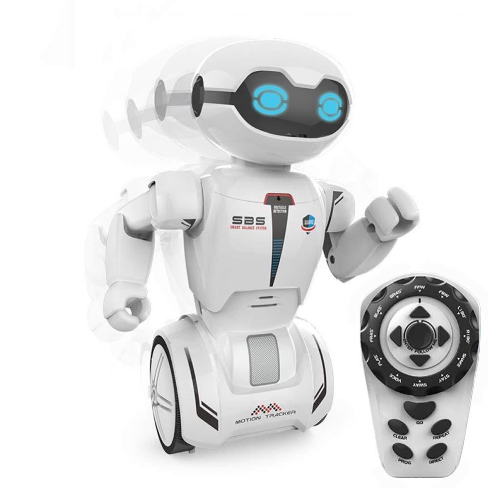 KYOKIM Intelligenter Fernsteuerungsroboter 2 Räder APP Blautooth-Kontrollfunktion LED-Augen Musik Tanz Weg
