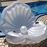 Comfortable Water Lounge, Home Inflatable Sofa, Floating Inflatable Pool, White Shell Water Lounge, Inflatable Floating Amphibious BBSL