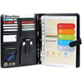 #1 Rated Executive Resume Padfolio & Portfolio-Best Job Tools & Free Gifts -Holds Removable 3 Ring Presentation Folder, Phone, Legal Pad -Perfect Faux Leather Office Folio Organizer & Professional Documents Binder Case