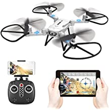 GoolRC T32 RC Drone Foldable with HD Camera Headless Mode 2.4GHz 4 Channel 6 Axis RTF RC Quadcopter Height Hold Easy Fly for Learning(WHITE)