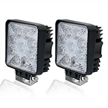 Liteway 2X45W 4Inch LED Light Flood Work Light CREE LED Driving Light Bar Cube Offroad Fog Lights 4WD Truck Atv Utv Suv Tractor Daytime Running Lamp, 1 Year Warranty
