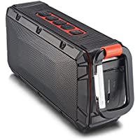 Portable Wireless Outdoor Bluetooth Speaker IPX-6 Waterproof Dual 10 Watt Drivers, Enhanced Bass, Built in Mic (Black) SALE = $30