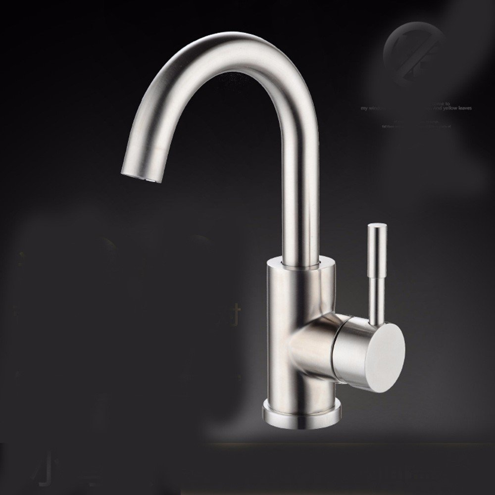 3 Hlluya Professional Sink Mixer Tap Kitchen Faucet 304 Stainless Steel, washing your face, hot and cold water, sanitation, redation, sink and faucet