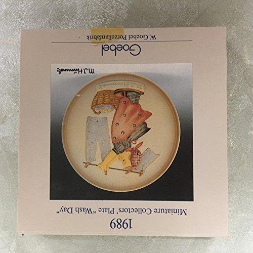 - 1989 Goebel Hummel Miniature Plate WASH DAY