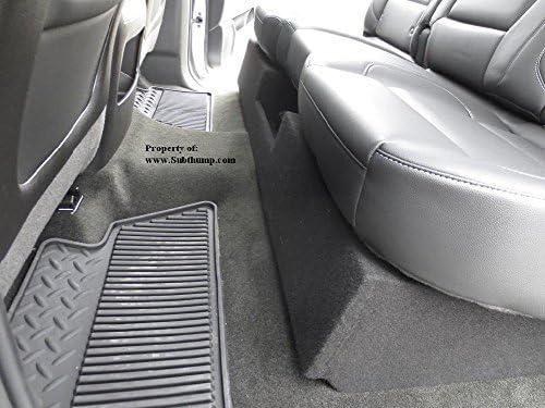 Q Power QBGMC1020144DR Dual 10 Subwoofer Enclosure Box for 2014-2016 Chevy Silverado and GMC Sierra Crew Cab Trucks