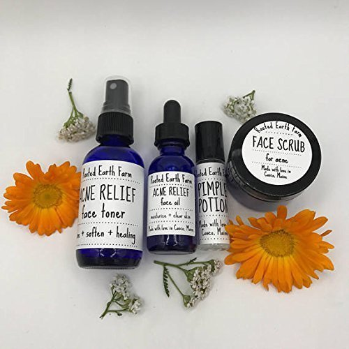 Acne Relief Kit, Pimple Treatment, Clear Skin Products by Rooted Earth Farm + Apothecary